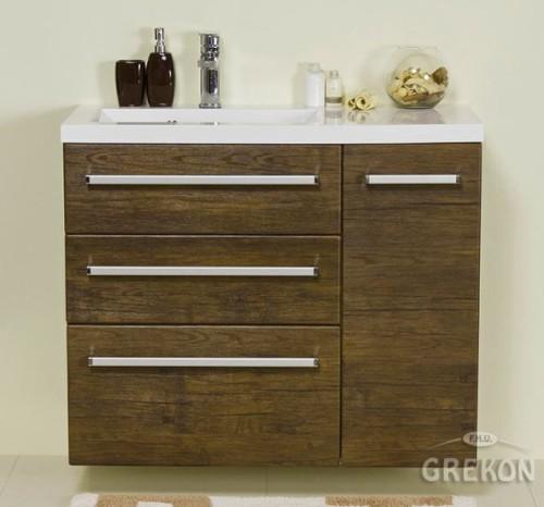 Szafka Do łazienki 9039 Cm Antyczne Drewno Umywalka Fokus