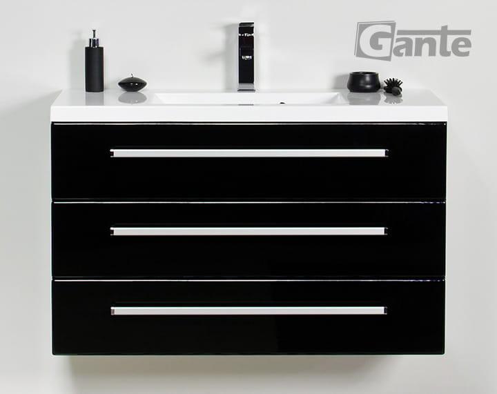 Cudowna Szafka łazienkowa 100/39 cm 3 szuflady + umywalką [FOKUS] Meble KW67