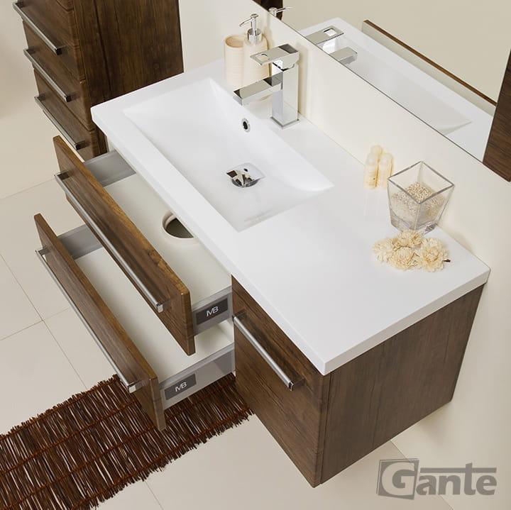 Szafka Do łazienki 9039 Cm Antyczne Drewno Umywalka Fokus Meble