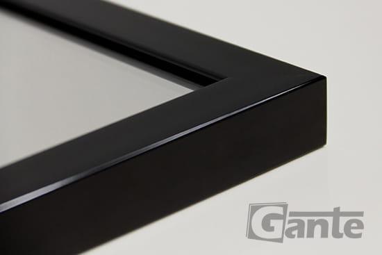 Lustro W Czarnej Ramie Aluminiowej 80 Cm X 80 Cm Meble łazienkowe
